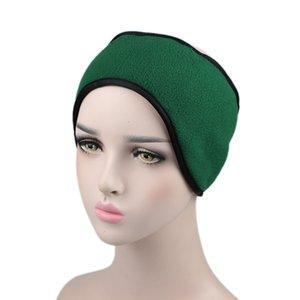 fleece Men's and women's winter double warm headband earmuffs ear bag with Velcro adjustment