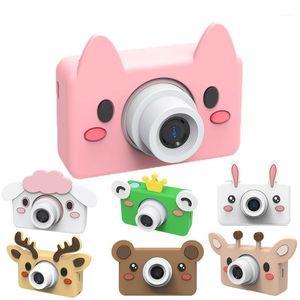 Cámaras digitales 1080P Cámara infantil HD Polaroid 2.0 pulgadas Mostrar juguetes para niños para niñas y niños Juguete de regalo con caja de dibujos animados1
