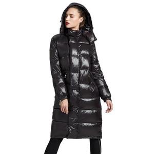 Eva Liberté Down Down Coats 2020 Nouveaux Vestes Stylés Down Down Drap Longue Jacket Femme Hiver Hiver Coat Lâche Feminano 189011
