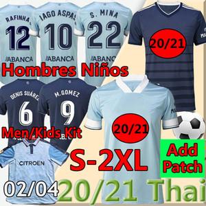 Männer und Kinder Kits 2020 2021 RC Celta de Vigo Soccer Jerseys Retro 2002 04 Camiseta de Futbol Iago Aspas S.Mina Denis Suárez Football Hemden