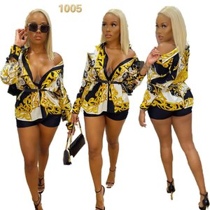 NY8022 high-end hot sale European and American style women's fashion sexy printed shirt cardigan single breasted shirt women 021