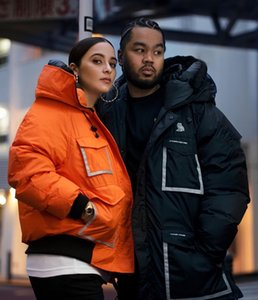 Mens e donne coppie stile ovino piumino piumino Gufo Limited Nord e South Poles caldi abbigliamento luminoso riflettente
