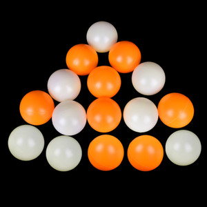 150pcs / lot FoPcc Nouveau Matériel Blanc Jaune Balles de tennis de table Ping-pong Balles en plastique Lottery Balles de ping-pong Sport Accessoires 201019