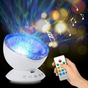 The latest marine projection led atmosphere bedside table lamp usb remote control watermark music projector lamp, free shipping