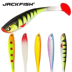 Jackfish 낚시 미끼 125mm / 10g 부드러운 발광 미끼 Wobblers 낚시 소프트 미끼 실리콘 인공 3D 시뮬레이션 미끼 미끼 Q0104