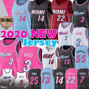 MiamiCalorJerseys Tyler 14 Herro Dwayne Wade 3 Jimmy Butler, 22 de Dwyane Goran Dragic 7 Bam 13 Adebayo Duncan 55 Robinson Baloncesto