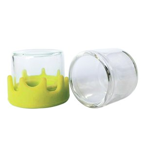 6ml glass container Nonstick wax containers silicone lid glass box oil jar oil holder for vaporizer vape dab tool storage bottles free DHL