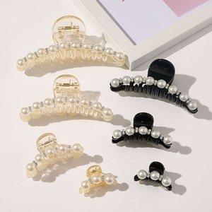 Ins Mode Champagner Black Hair Claws Perle Strass Haarspange Krabbenklemmen Große Kleine Größe Haarnadeln Haarschmuck Haarschmuck Barrettes