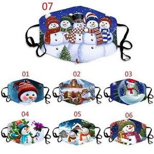 Máscara de Navidad Diseñador Máscaras Divertidas Hecho a medida Masque Decoraciones de Navidad Adult Face Masks Mascherina Cotton Mask Reutilizable