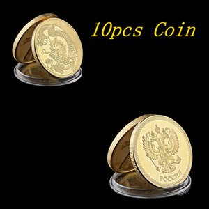 10pcs Collection Memorial 1st Coin Chinese Dragon Dragon Double Sided Souvenir Metal Round Gift Decor