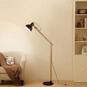 Pavimento di legno Lampada regolabile caldo impermeabile bianco 8W Lampade a risparmio energetico Trapeze piatto di legno Polo Floor Lamp