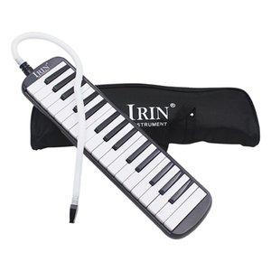 İrin 1 Set 32 Anahtar Piyano Stili Melodica ile Kutusu Organ Akordeon Ağızlık Oral Anahtar Kurulu (Siyah)
