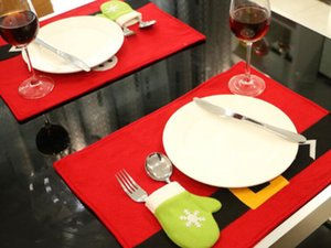 Горячий рождественский стол Mat украшения Товары для дома Hotel Restaurant Украсить стол Маты 45см * 33см Креативный рождественские украшения продукта