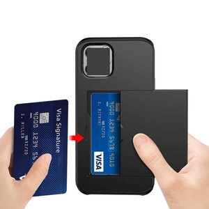 Hybrid Armor Wallet Case Cover For Iphone 12 Mini PRO MAX Samsung S20 PLUS NOTE 20 Ultra Shockproof Protective with Card Slot Holder Luxury