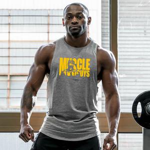 Verão Musculação Stringer Regatas Homens Marca Ginásios guerreiros roupa da aptidão dos homens Camisola mangas da camisa do exercício Vest