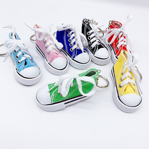 Zapatos de lona de PU 3D zapatos de jogging zapatos de moda botas de tela llavero colgante bolsa colgante llavero coche decoración de pedant