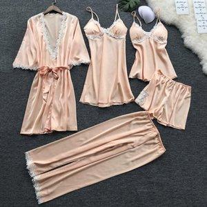 JAYCOSIN NEW 2019 Women Sexy Lace Lingerie Nightwear Underwear Babydoll Sleepwear Dress 5PC Suit 1.221