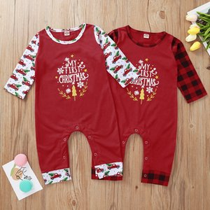 My First Christmas Newborn Infant Romper Baby Boys Girls Xmas Letter Printed Long Sleeve Rompers 2021 Merry Christmas Jumpsuit