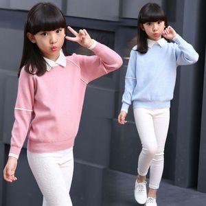 winter sweater autumn Children's 2020 thickened new girl's shirt collar knitted bottomcoat fashion coat COC1RU16