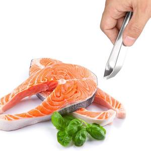 1 ADET Paslanmaz Çelik Balık Kemik Cımbız Pincer Klip Çektirme Remover Maşa Balık Kemik Kupasma Kelepçe Mutfak Gadgets Araçları DHF4042