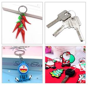 Runder Metall Split Keyring Keychain Flat Line Key Halter Ring DIY Key Ketten Zubehör Keyfob Schmuck Machen Erkenntnisse w Qylpxn