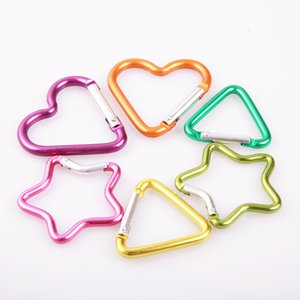 Coração em forma de triângulo Montanhismo Bule Cinco Pointed Star Webbing Bapa de Alumínio Bule Bolsa Bolsa Chaveiro Hammo Gancho