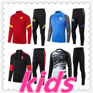 juventus inter milan ac milan napoli roma soccer tracksuit designers clothes kids football kits 20 21 soccer tracksuit survetement kids chandal futbol