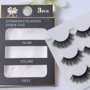 Batch Hair 3D Handmade Silk Protein Multi-Layer False Eyelashes 3D Waterproof Mink Nude Makeup Realistic Eyelashes 046