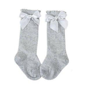 LIMIER Bébé Girls Mignon Kids Knee High Chaussettes Bowknot Party School Bas Socks Filles Vêtements Coton Mode Casual Daily 0JC9