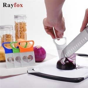 Kitchen Accessories Tomato Onion Lemon Vegetables Slicer Cutting Aid Holder Guide Slicing Cutter Safe Fork Kitchen Gadgets Tools