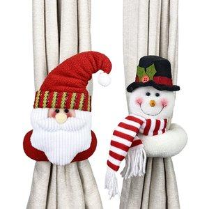 Decoração de Natal Creative Cortina Anel Dos Desenhos Animados Decoração Boneca Fecho Cortina Clasp Janela Pingente 60pcs T1i2705