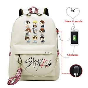 Girls Backpack School Bags For Women Kpop Stray Kids School Backpack Girls Korean Book Bag Usb Charging Teenager Schoolbag bbyhxn yh_pack