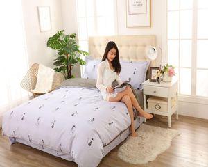 Постельное белье King Size набор 100% хлопчатобумажных чехол для одежды с плоским листами наволочка