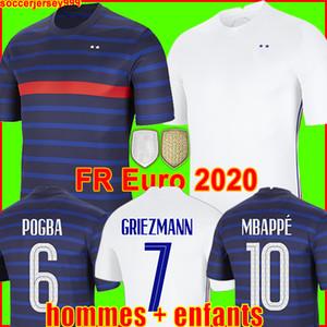 France 프랑스 유로 2020 2021 프랑스 축구 유니폼 축구 셔츠 2018 월드컵 저지 100th 100 년 남성 + 어린이 키트 유니폼 mbappe