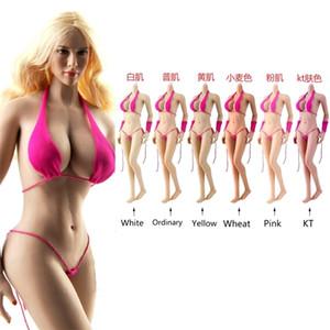 Jiaou Coll 1/6 европейские супер гибкие сексуальные бесшовные большой бюст женские тела металлические скелет скелет / не съемная модель ноги 201202