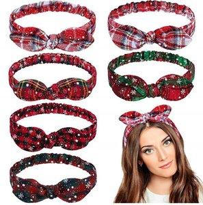 2020 Christmas Headband New Year Gifts Christmas Hair Accessories Bow Headband Hair Band New Year Xmas deco