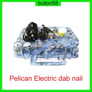 Venta caliente E Nail Pelican Electric DAB Clavo Enail Controller WAX PID TC Caja con 10mm16mm20mm Calentador de bobina Domeless Dnail