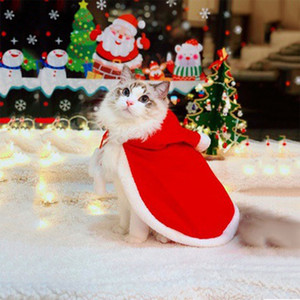 Pet Christmas Cat Dog Costumes Cloak Hooded Style Keep Warm Cat Dog Clothing Dogs Costume Pet Clothing Coat Pets Costume Clothes