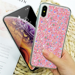 Phone Case For iPhone 11 Pro Max XR X XS Max Bling Glitter Shining Flash Case Hard Back Case For iPhone 6 7 8 Plus Funda 12 Mini Cover
