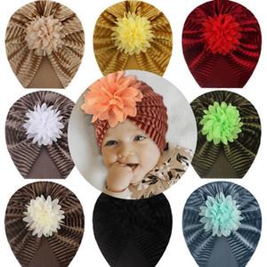 Çörek Bebek Şapka Yenidoğan Elastik Pamuk Bebek Beanie Cap Çok Renkli Bebek Türban Şapka Bebek Kafa Rahat Sıcak Çocuk Pleuche Şapka
