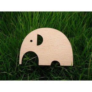 The shape of an elephant wood Brooch 201009