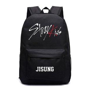 Le ragazze dei ragazzi dei backbags Stray bambini Jisung Stampe scuola adolescente Borse Laptop Backpack Mochilas Mujer viaggio Zaini Canvas Rugzak mwtZXc