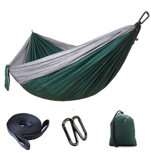 Explosive parachute cloth hammock outdoor camping swing 300*200 double lengthened and widened ultralight products high quality