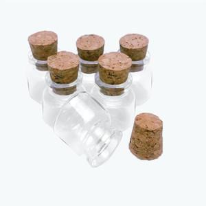 30 * 30 * 17mm 10ml mini bottiglie di vetro con sughero Piccolo trasparente trasparente Tiny Tiny Vuoto Viaiale di vetro Vasetti tappi tappi carini bottiglie 10 Bbydov