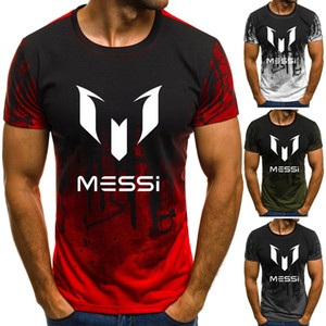 Summer Man's Barcelona Messi T Shirts Camouflage O-neck Fashion Printed Hip-hop Tee Camisetas Men Clothing Casual Top Y200930