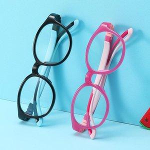Дети Анти синий свет очки Подростки TR90 + Resin Регулируемая рама 0 градусов объектив антибликовым компьютера очки с наушниками Держатель