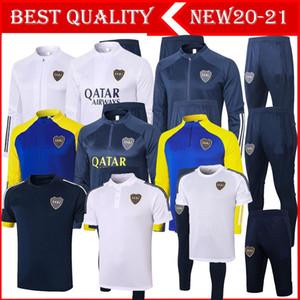 2020 2021 Boca Juniors Ceket Eğitim Takım 20/21 Boca Juniors Jogging Futbol Eğitimi Suit Tevez De Rossi Trainsuit Boyut S-XXL