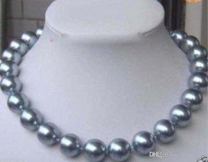 """8 millimetri Silver Grey mare del sud Shell Pearl Necklace 18 """";"""