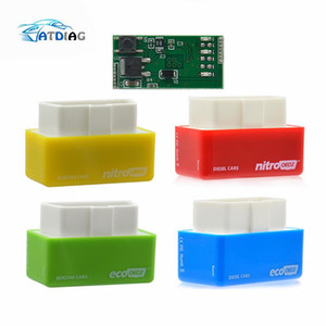 New EcoOBD2 & Nitro OBD2 Gasoline Plug & Drive Performance For Benzine Eco OBD2 ECU Chip Tuning Box 15% Fuel Saving More Power