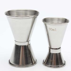 قياس مزدوجة من جانب كأس كوكتيل الخمور بار قياس الكؤوس الفولاذ المقاوم للصدأ الوالج نادل شرب الخمور خلاط قياس كأس OWF2739